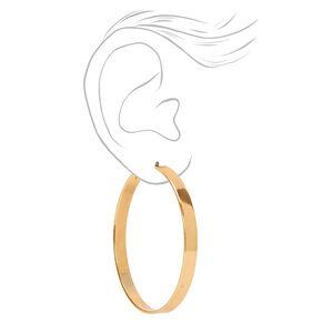 Gold 60MM Thick Hoop Earrings,