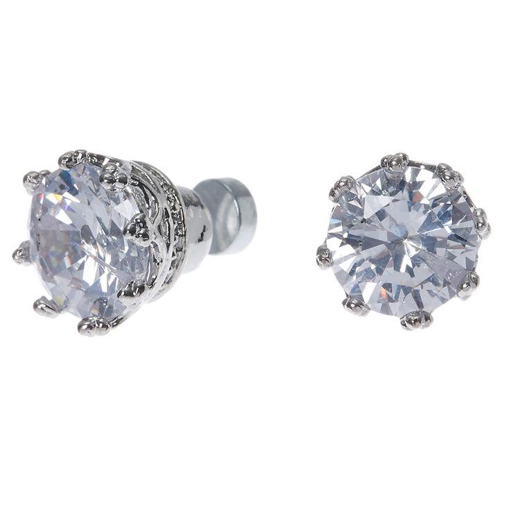 8mm cubic zirconia magnetic stud earrings s us
