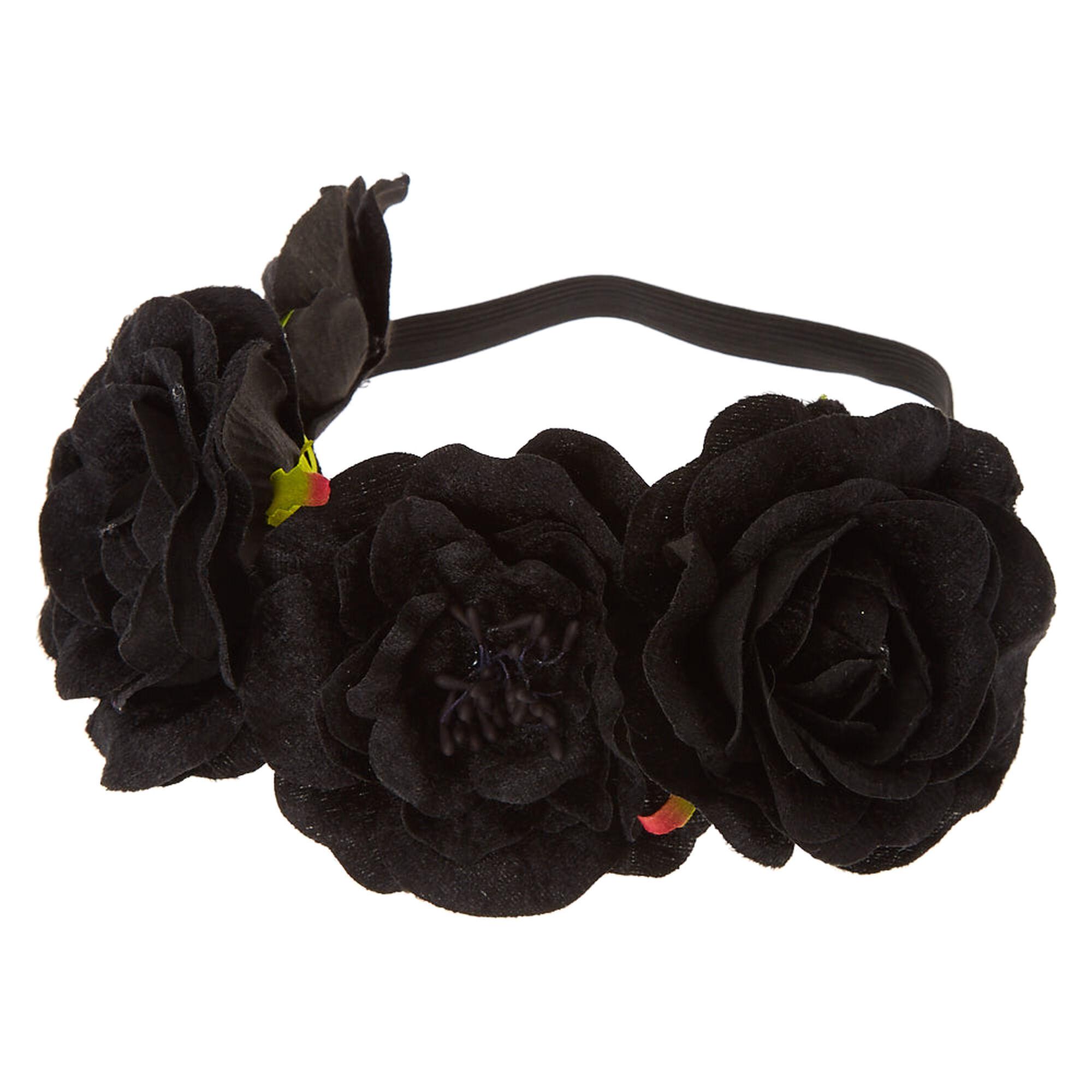 Black Velvet Flower Crown Claires