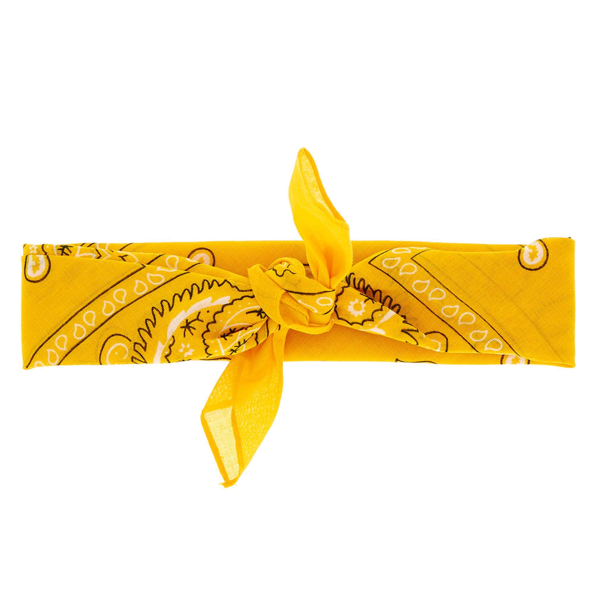 ... Paisley Print Bandana Headwrap - Mustard Yellow 822745fbb85