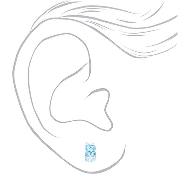 Gummy Bear Stud Earrings - 9 Pack,