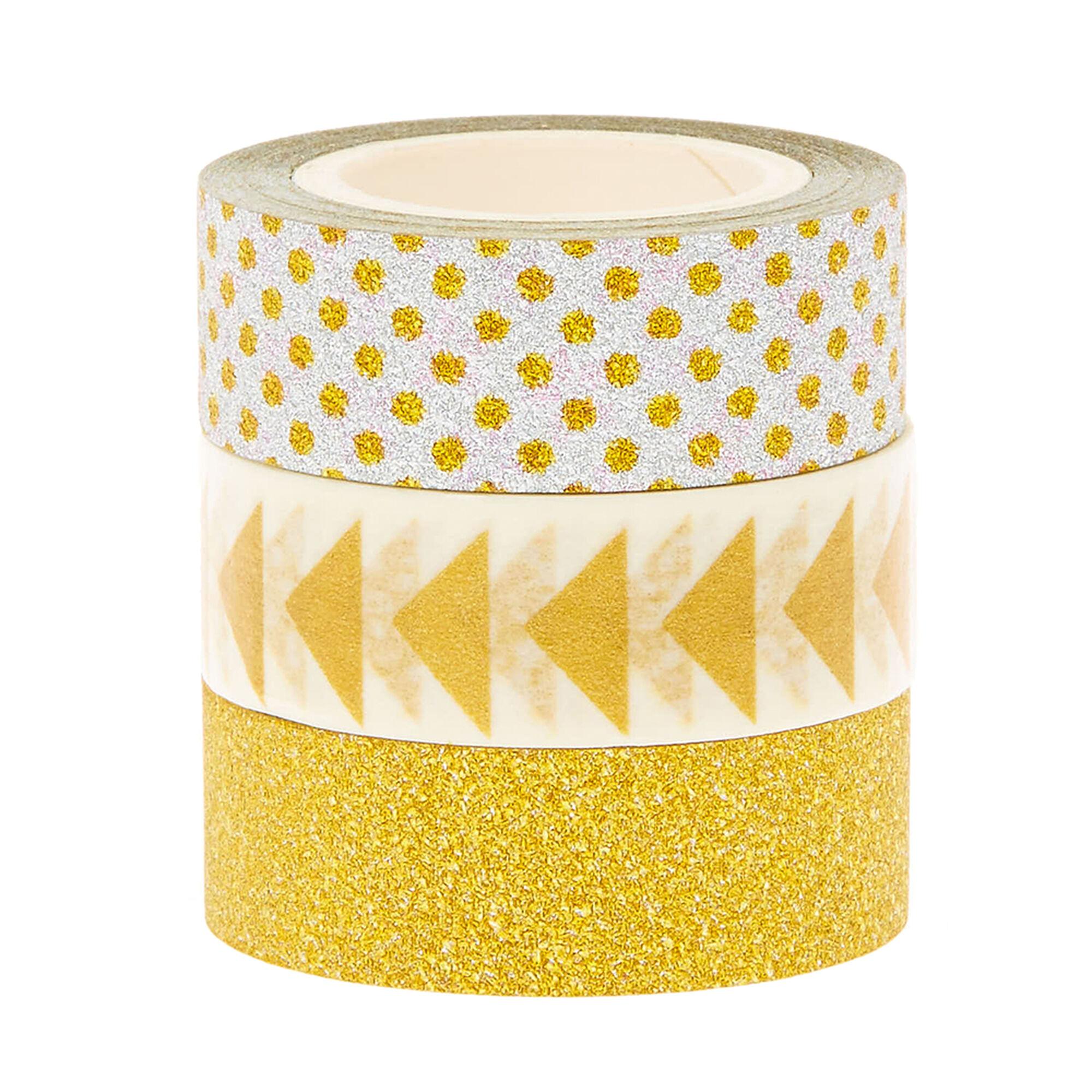 lot de 3 rubans adh sifs d coratifs couleur argent s et couleur dor s claire 39 s fr. Black Bedroom Furniture Sets. Home Design Ideas