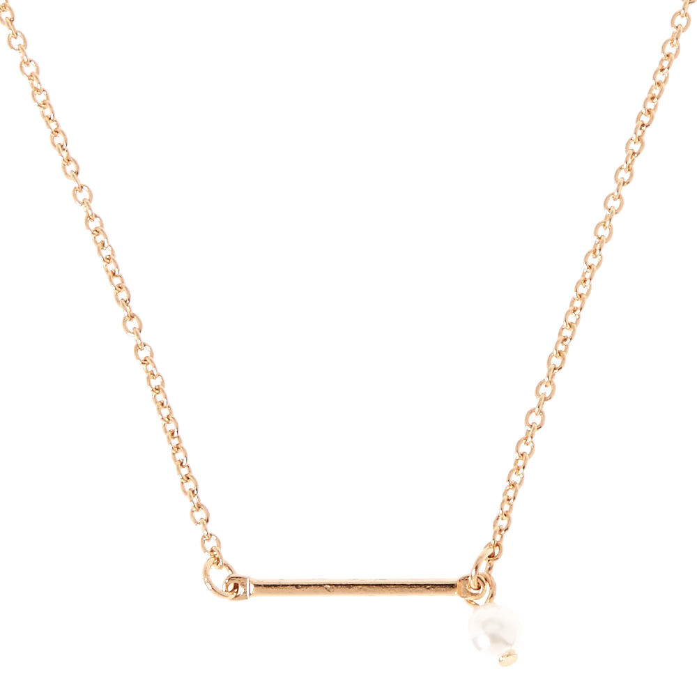 Collier pendentif barre or
