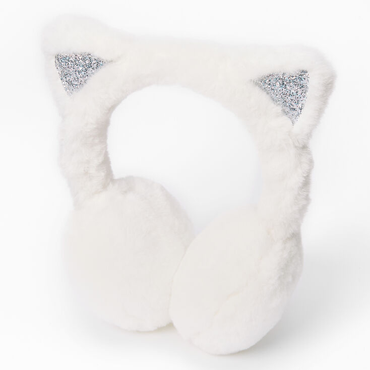 Furry Cat Ear Muffs - Pink,