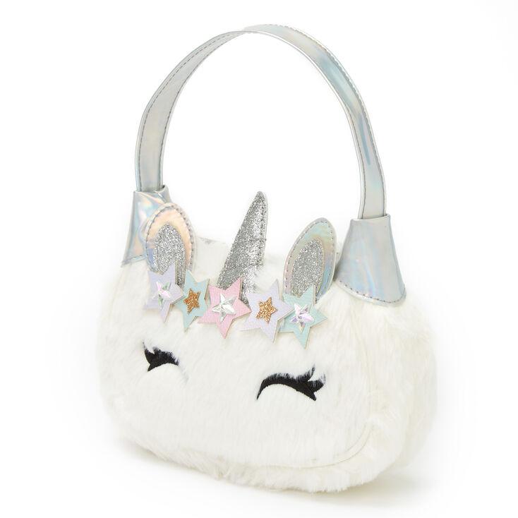 Claire's Club Holographic Unicorn Handbag,