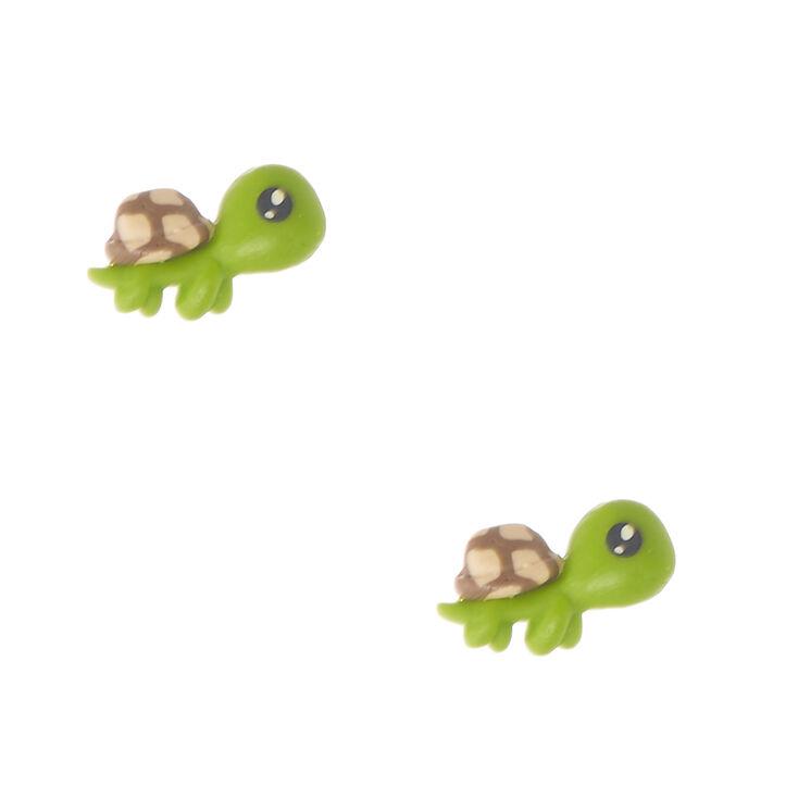 Clous d'oreilles à motif de petite tortue,