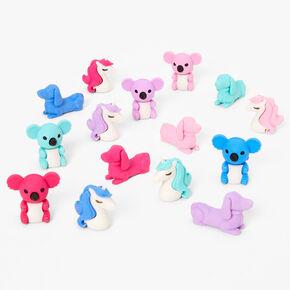 Pastel Animal Erasers - 15 Pack,