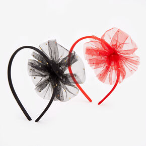 Claire's Club Holiday Tulle Headbands - 2 Pack,