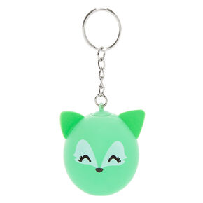 Trixie the Fox Stress Ball Keychain - Green,