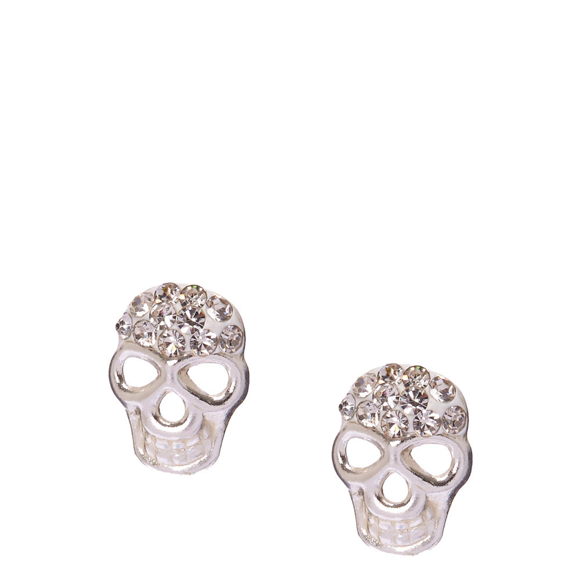 ways pearl to skull back stud with design clip trendy two rebelsland fashion skeleton earring products wear white