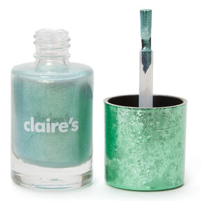 Shimmer Nail Polish - Mint Holo Glitz,