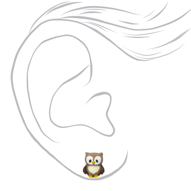 Silver Fall Critter Stud Earrings - 6 Pack,