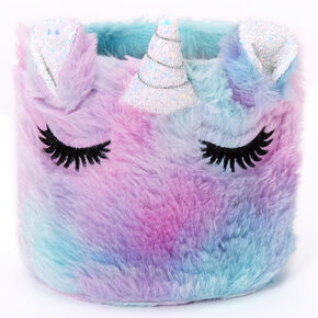 Pastel Unicorn Plush Magnetic Locker Bin,