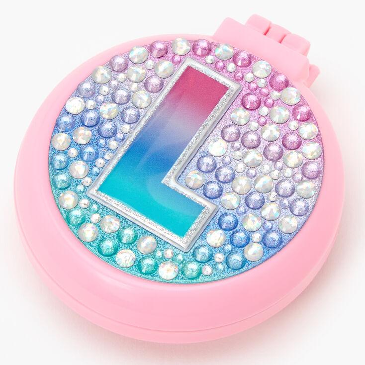 Initial Pop-Up Hair Brush - Pink, L,