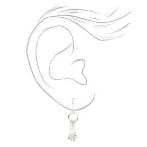 """Silver 1"""" Measuring Spoons Drop Earrings,"""