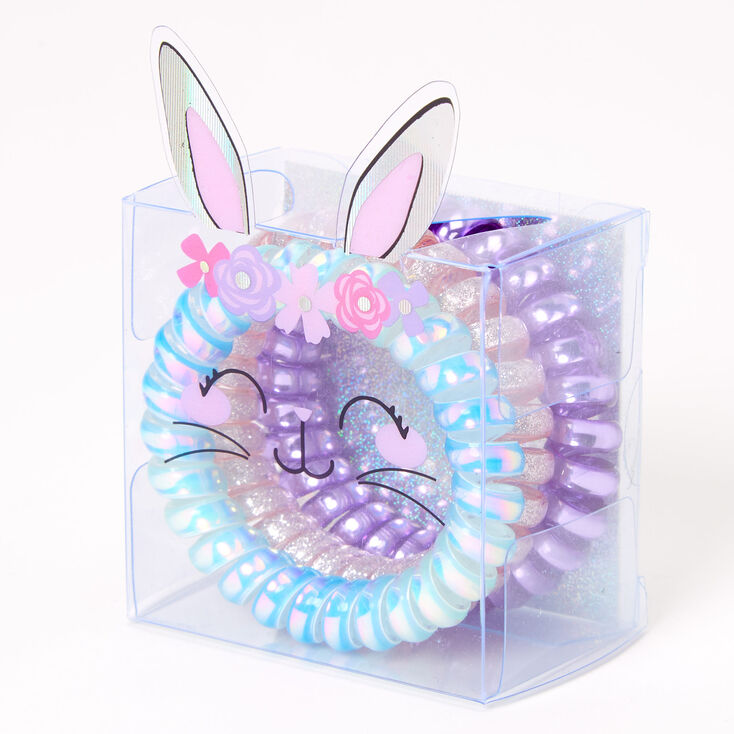 Claire's Club Bunny Box Coil Bracelets - 3 Pack,