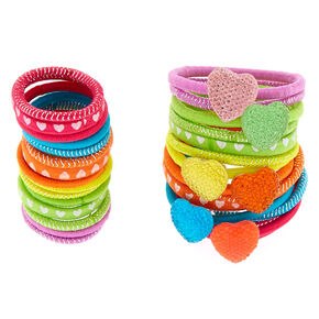 Claire's Club Rainbow Hair Bobbles - 30 Pack,