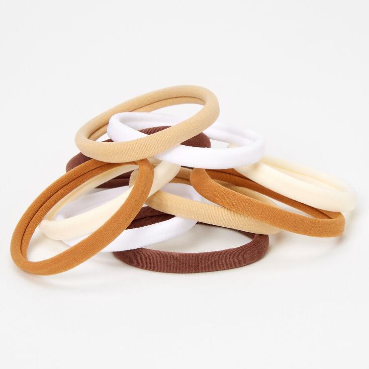 Brown & Tan Rolled Hair Ties - 10 Pack,