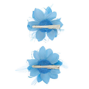 7c26a4f9db Glitter Lily Flower Hair Clips - Baby Blue, 2 Pack