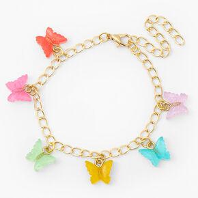 Butterfly Charm Bracelet - Gold,