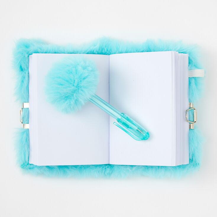 Claire's Club Kitty Lock Plush Diary - Mint,