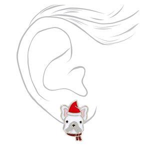 Santa Hat Dog Stud Earrings,
