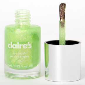 Shimmer Nail Polish - Neon Green,
