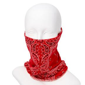 Cache-cou/bandeau bandana motif cachemire - Rouge,