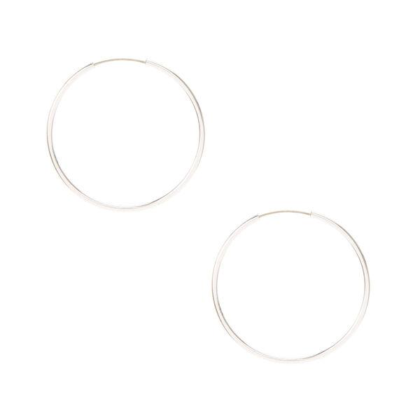 Claire's - 25mm hoop earrings - 1