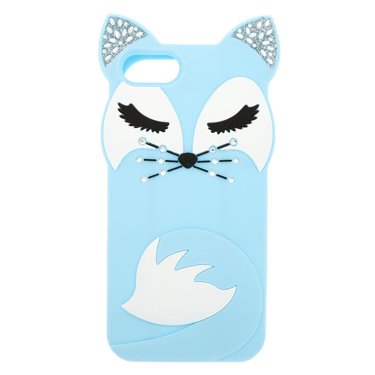 Blue Pretty Fox Silicone Phone Case - Fits iPhone 6/7/8/SE,