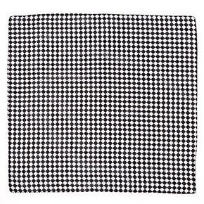 Bandeau bandana à carreaux noir et blanc,