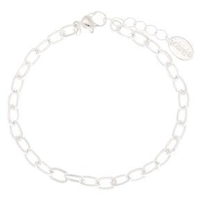 Bracelet chaîne breloque couleur argentée,