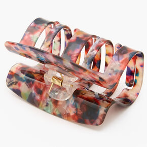 Medium Rainbow Marble Hair Claw,
