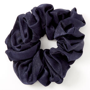 Giant Satin Hair Scrunchie - Navy,