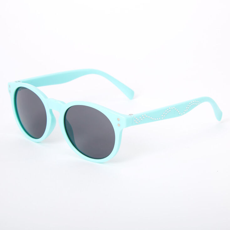 Claire's Club Round Sunglasses - Mint,