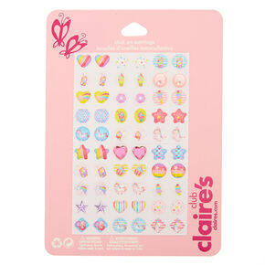 Claire S Club Stick On Earrings 30 Pack