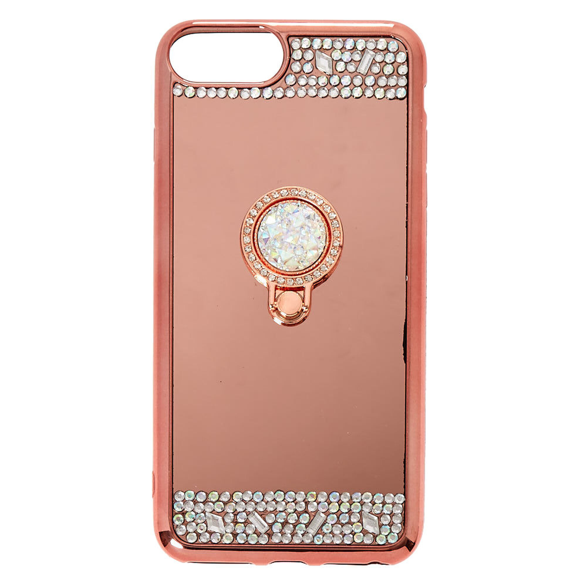 reputable site f7eec 11a4b Rose Gold Mirrored Ring Stand Phone Case - Fits iPhone 6/7/8