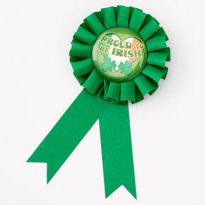 Proud To Be Irish Ribbon Button - Green,