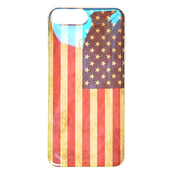 Claire's - holographicdistress american flag phone case - 1