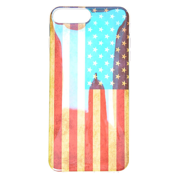 Claire's - holographicdistress american flag phone case - 2
