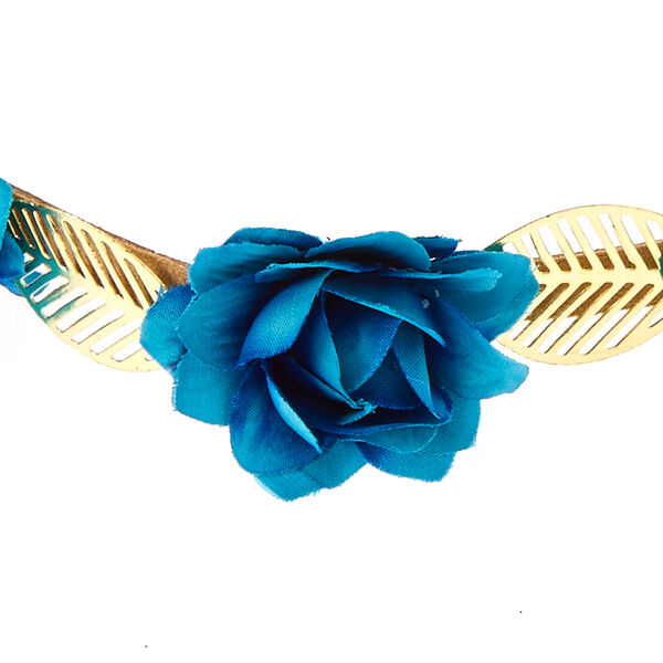Claire's - indigo roses & leaves headwrap - 2