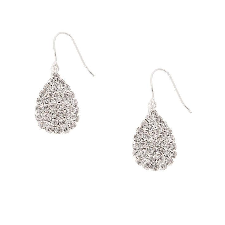 Crystal Teardrop Drop Earrings,