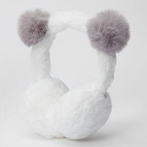 Claire's Club Plush Panda Ear Muffs - Pink,