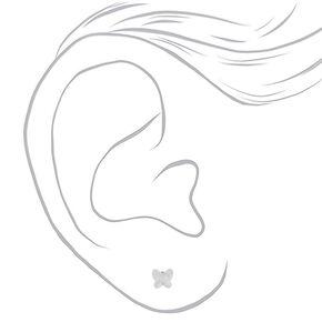 Sterling Silver Swarovski® Elements Butterfly Stud Earrings,
