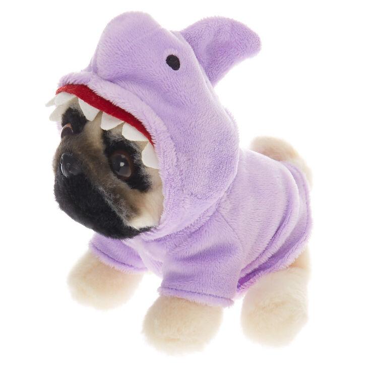 Doug the Pug™ Small Shark Plush Toy – Purple,