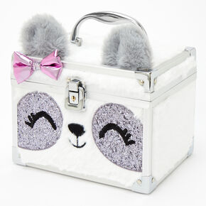 Paige the Panda Furry Lock Box - White,