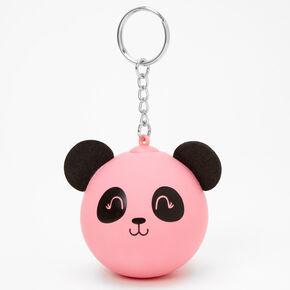 Panda Stress Ball Keyring - Pink,