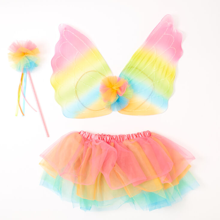 Claire's Club Neon Rainbow Butterfly Dress Up Set - 3 Pack,