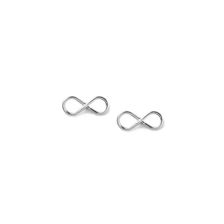 Sterling Silver Infinity Symbol Stud Earrings,
