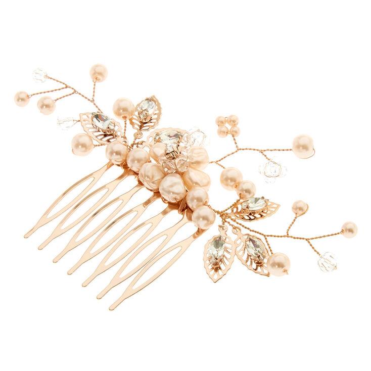 Blush  Pearl Flower Hair Comb,